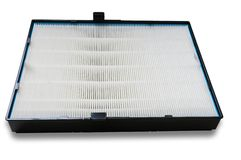 HVAC系统的高效率空气过滤器 在白色 库存照片