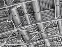 Hvac duct air conditioner ventilation pipes system Stock Photos