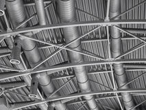 Hvac duct air conditioner ventilation pipes system Royalty Free Stock Photo