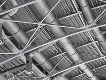 Hvac duct air ventilation pipes system Stock Image
