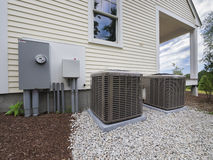 HVAC heating and air conditioning units Royalty Free Stock Photos