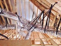 HVAC-het Buizenstelsel van het Ventilatiesysteem royalty-vrije stock fotografie