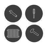 Hvac i ogrzewania naprawy narzędzi logo Obrazy Stock