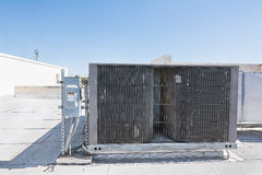 HVAC Unit. A rooftop heating and cooling system Stock Photos
