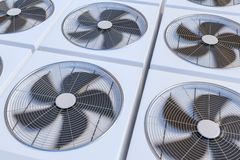 HVAC units heating, ventilation and air conditioning. 3D rendered illustration Stock Images