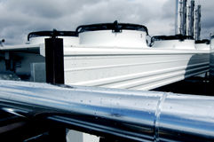HVAC units on roof Stock Images