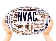 HVAC word cloud hand sphere concept