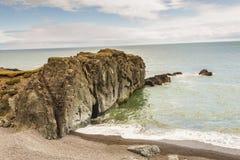 Hvalnes, rocky coastline - Iceland. Stock Image