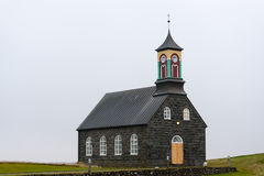 Hvalsneskirkja, μια από τις πολλές ισλανδικές εκκλησίες Στοκ Εικόνες