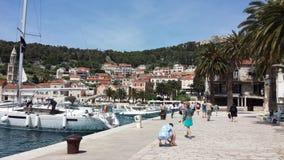 hvar πόλη της Κροατίας Στοκ Εικόνες