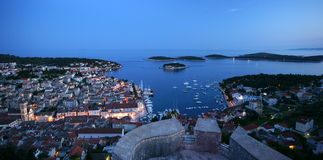 Hvar. The city of Hvar on the Croatian island of Hvar in the Adriatic Sea Royalty Free Stock Photo