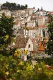 hvar στέγες της Κροατίας Στοκ Φωτογραφίες