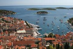 Hvar. Stadt Hvar auf der Insel Hvar in Kroatien stock photo
