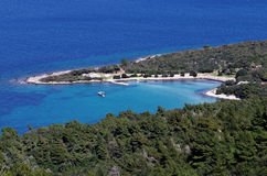 Hvar, baie de la Croatie - de Mlaska Photographie stock