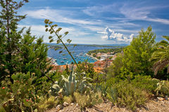 Hvar bay aerial nature view Royalty Free Stock Image