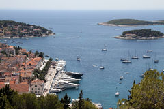 Hvar and boats Stock Image