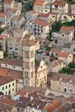 Hvar, catedral de Croatia imagenes de archivo