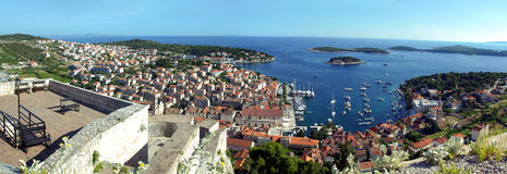 Hvar city panorama Stock Photo