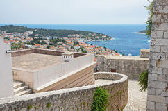 Hvar city in Split-Dalmatia County, Croatia Royalty Free Stock Photo