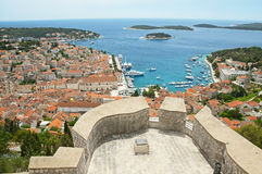 Hvar city in Split-Dalmatia County, Croatia Stock Image