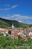Hvar, Croatia, da sopra Fotografia Stock Libera da Diritti