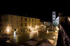 Hvar in Croatia at holiday night Royalty Free Stock Photography