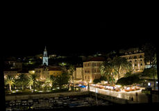 Hvar in Croatia at night Royalty Free Stock Photography