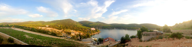 Hvar - Croatia. Panoramic landscape of Hvar island in Croatia in Europe Stock Photos