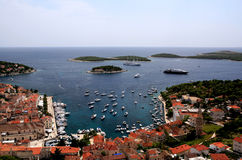 Hvar in Croatia and surrounding islands Stock Photos