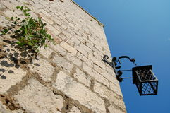 Hvar fortress lantern Stock Images