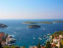 Hvar-Hafen, Kroatien stockfotografie