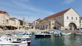 Hvar harbor in Croatia Stock Image