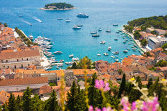 Hvar harbor royalty free stock image