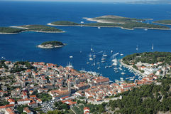 Hvar and Hell islands Stock Photography