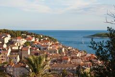 Hvar, horizonte de Croatia imágenes de archivo libres de regalías