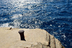Hvar island. Deep blue seascape Royalty Free Stock Images