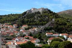 Hvar and its fortress, Croatia Royalty Free Stock Image