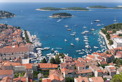 Hvar and its harbor Royalty Free Stock Images