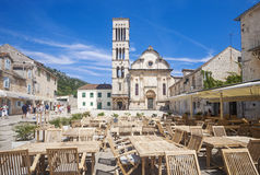 Hvar - main square Royalty Free Stock Photos