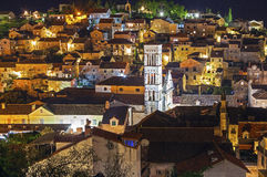Hvar at night Stock Photography
