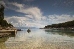 Hvar piękna zatoczka Obrazy Royalty Free