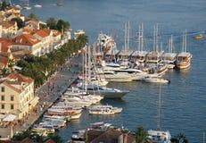 Hvar port. Port on Hvar in Croatia Royalty Free Stock Image