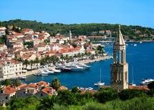 Hvar stad i Kroatien Fotografering för Bildbyråer