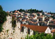 Hvar stad i Kroatien Arkivbild