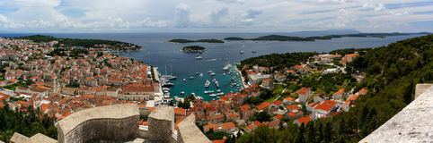 Hvar-Stadt u. Paklinski-Inseln, Kroatien Stockfotos