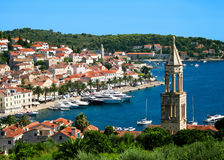 Hvar town in Croatia Stock Image