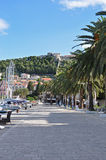 Hvar Town Harbor and Fortress Royalty Free Stock Photography