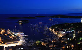 Hvar town harbour Royalty Free Stock Images