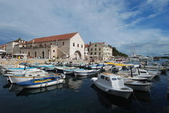 Hvar town harbour Stock Photography