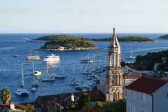 Hvar town view stock photography